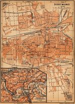 Dortmund Map, Germany 1910