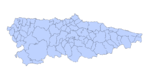 Spain outline map showing its provinces