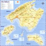Map, Balearic Islands, Spain