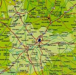 Physical map of Saxony-Anhalt 2008