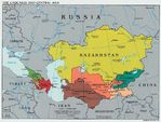 Caucasus and Central Asia Political Map 2003