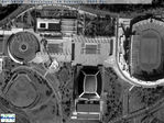 Satellite Image, Photo of Barcelona Olympic Stadium, Spain