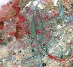 Satellite map of Madrid, Spain 2000