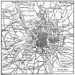 Map of Madrid 1906