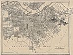 Louisville City Map, Kentucky, United States 1917