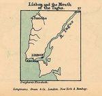 Mapa de Lisboa y de la Desembocadura del Tajo