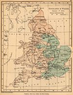 Map of England and Wales, January 1, 1644