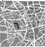 Mapa de la Ciudad de Bucarest, Rumania