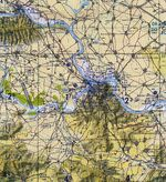 Eureka Topographic City Map, Utah, United States