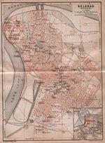 Mapa de Belgrado, Serbia 1905