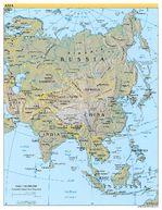 Mapa de Relieve de Asia 2004