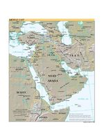 Middle East Shaded Relief Map