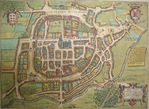 Braga Middle Ages Map, Portugal