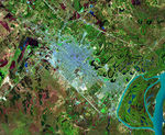 Satellite Image, Photo of Resistencia City, Prov. Chaco, Argentina