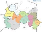 Mahdia Governorate Map, Tunisia