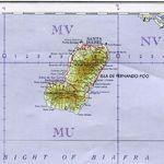 Mapa Topográfico de Bioko (Fernyo Poo), Guinea Ecuatorial