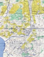 Mapa de Seúl Meridional, Corea del Sur 1946