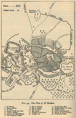 Mapa de la Ciudad de Medina (Al Madinah), Arabia Saudita 1946