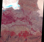 Satellite Image, Photo of Ezequil Ramos Mexia Reservoir, Argentina