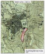 Map of Jerusalem Under David c. 1000 B.C.