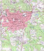 Mapa Topográfico de la Ciudad de Andalusia, Alabama, Estados Unidos