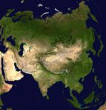 Satellite image, photo of Asia