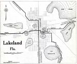 Lakeland City Map, Florida, United States 1919