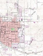 Moscow Topographic City Map, Idaho, United States
