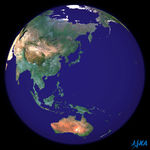 Earth spherical image centered on Japan