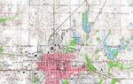 Fairfield Topographic City Map, Iowa, United States