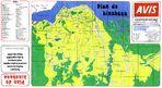 Mapa Turístico de Kinshasa, República Democrática del Congo (Zaire)