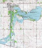 Mapa Topográfico de la Ciudad de Lake View, Iowa, Estados Unidos
