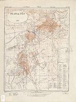 Mapa de la Ciudad de Fez, Marruecos 1942