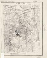 Taza City Map, Morocco 1942