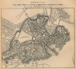 Mapa de la Ciudad de Boston, Massachusetts, Estados Unidos 1814