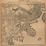 Mapa de la Ciudad de Boston, Massachusetts, Estados Unidos 1880