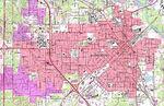 Mapa Topográfico de la Ciudad de Hattiesburg, Misisipi, Estados Unidos