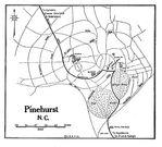 Mapa de la Ciudad de Pinehurst, Carolina del Norte, Estados Unidos 1920