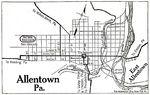 Allentown City Map, Pennsylvania, United States 1920