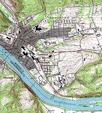 Girona downtown map 1999