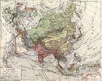 Mapa político de Asia 1904