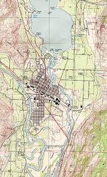 Mapa del Parque Nacional Bryce Canyon, Utah, Estados Unidos