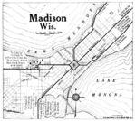 Mapa de la Ciudad de Madison, Wisconsin, Estados Unidos 1920
