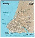 Mapa de la Ciudad de Mahajanga, Madagascar