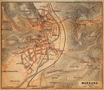 Marburg Map, Germany 1910