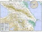 Caucasus physical map 1994