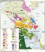 Map of Ethnolinguistic Groups in the Caucasus Region