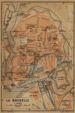 Mapa de La Rochelle, Francia 1914