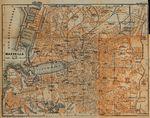 Mapa de Marsella, Francia 1914
