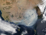 Fires and smoke in Southeast Australia